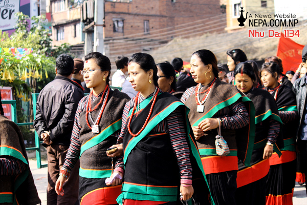 Women in Newa typical dress at lalitpur, Nhu Da 1134
